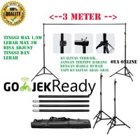 Bracket Stand 10ft untuk Backdrop Tiang Stand Background Foto Studio