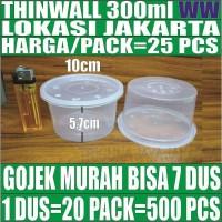 Thinwall 300ml 25pcs mangkok mangkuk bowl bulat plastik es kepal milo