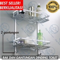 Rak Dinding Kamar Mandi WC Toilet Serbaguna Sabun Shampo Odol S982