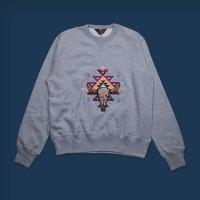 Oldblue Sweatshirt - The Native Skull Grey