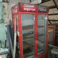 showcase frigorex kulkas coca cola 900 L dua pintu free kulkas kecil
