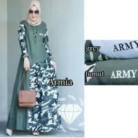A 2 wen maxi armia green abu gamis maxi dress wanita muslim