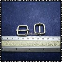 12 Piece Ring Jalan Kotak Untuk Tali Tas 1,5cm Warna Silver Nikel