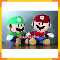 Harga boneka super mario bros luigi big 40cm high | Hargalu.com