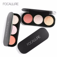 FA26 FOCALLURE BLUSH & HIGHLIGHTER / 3 COLOR BLUSH / BLUSH 3 WARNA