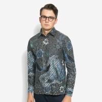 Alisan Kemeja Lengan Panjang Batik Reguler Hitam Biru BTKRG10407LS