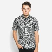 Alisan Kemeja Lengan Pendek Batik Kombinasi Hitam Putih BTKKB10397SS