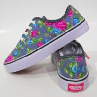 Harga jual sepatu vans authentic motif bunga grey abu abu abu waff 5455bb7f3c