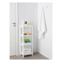 New Unit Lemari Rak Plastik Dapur Kamar Mandi 4Susun Ikea Vesken