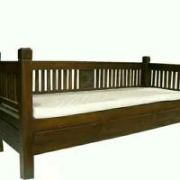 kursi kayu panjang sofa bed minimalis kursi panjang M117