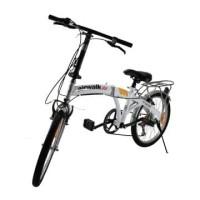 Airwalk Expresso Sepeda Lipat 20 Inci 6-Speed - Putih dan hitam