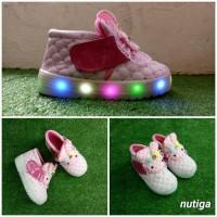 Ima Sepatu Anak Perempuan LED Boots Karakter
