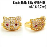 Jual XP657-DE Cincin Hello Kitty Perhiasan Lapis Emas Berkualitas