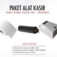PAKET PRINTER ARGOX OS 214 PLUS + RIBBON + STIKER LABEL 32x19mm