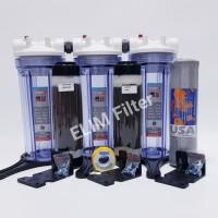 Harga paket filter air sumur zat besi tinggi 3 housing eugen clear 10 | Pembandingharga.com