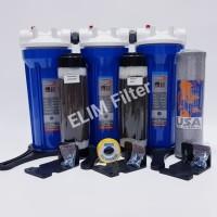 Harga paket filter air sumur zat besi tinggi 3 housing eugen blue 10 | Pembandingharga.com