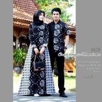 Harga baju batik couple sarimbit gamis muslim kemeja cowok lengan   antitipu.com