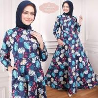 Maxi Raisa Flower (20) Baju Muslim Wanita Gamis Model Kekinian Terbaru