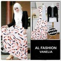 Maxi Vanelia 3in1 Baju Muslim Wanita Gamis Model Kekinian Terbaru