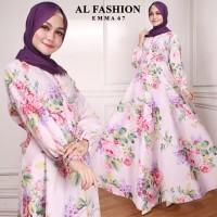 Maxi Emma (67) Bunga Baju Muslim Wanita Gamis Model Kekinian Terbaru