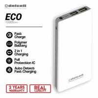 Delcell powerbank eco 10000 mAH real capacity faster charger original