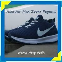 Sepatu Nike Air Max Zoom Pegasus Warna Navy Putih Cocok Untuk Santai