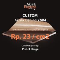 Custom acrylic potongan bening 3mm