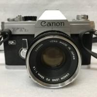 Analog Kamera Canon FTB QL Silver FD 50 mm f 1.8