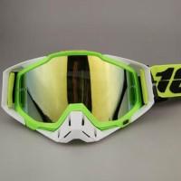 Kacamata 100% Goggle hijau putih - kacamata motocross - sepe Tokopedia