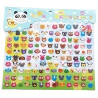 Mainan Edukasi Stiker Timbul Anak Binatang Seri Cute Animal #02
