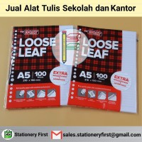 Loose Leaf Kertas File Binder A5 isi 100
