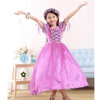 Baju Anak Dress Kostum Rapunzel Ungu