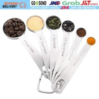 Measuring Spoon Set Sendok Takar Ukur Stainless Steel 6PCS KitchenAid