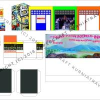 Pola Papercraft Kios dan Warung