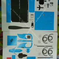Pola Papercraft Motor Vespa Biru Mini