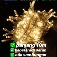 lampu led natal dekorasi , led twinkle light , led string WARM WHITE
