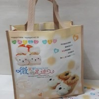 Giftbag souvenir Tas mini plastik handle tali cute