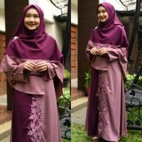 Harga gamis syari berkualitas model baru wollvis shabiyan baju muslim   Pembandingharga.com