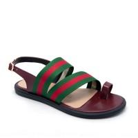 Fly Shoes Nara 4736 Maroon Sepatu Sandal - Maroon, 40