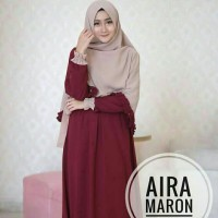 LG- Syari Aira Maroon Bahan Gamis Balotely+khimar Ld110 lebar