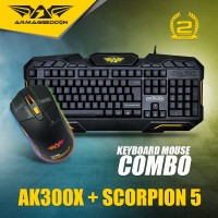 Keyboard Gaming Combo AK300x With Mouse Scorpion 5 RGB 4800CPI