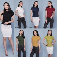 Harga blouse wanita prime knit top atasan turtleneck pakaian cewek | antitipu.com