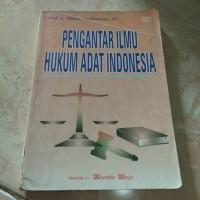 Jual Buku Bekas - Pengantar Ilmu Hukum Adat Indonesia - Hilman Hadikusuma Murah