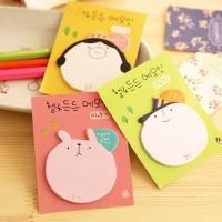 Sticky Note Memo kecil motif Muka dan Beruang Pink Unik Lucu - KSY051