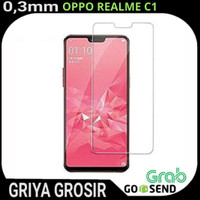 Tempered Glass Oppo Realme C1 Anti Gores Bening 0.3mm Non Packing