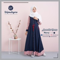 GAMIS Amarilis Dress NAVY by Urfimutiyaro TOYOBO FODU GAMIS ONLY