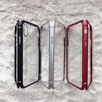 Iphone 6G MAGNETIK GLASS CASE 2in1 Premium Kaca Metal Casing Apple iOs