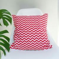Sarung Bantal Sofa Cushion Cover  Red Chevron