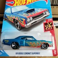 B0265-HOT WHEELS / HOTWHEELS-'69 DODGE CORONET SUPERBEE-BIRU