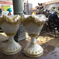 BEST SELLER Vas Bunga/Pot Fiber Dekorasi Pernikahan Murah Jakarta